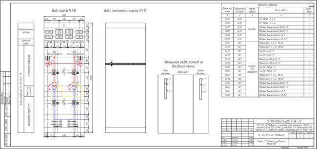 Разработка документации (схемы электрические